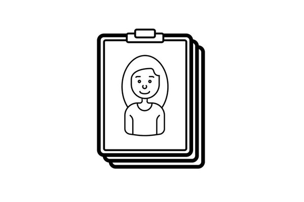 Technical documentation line icon. Guide or manual