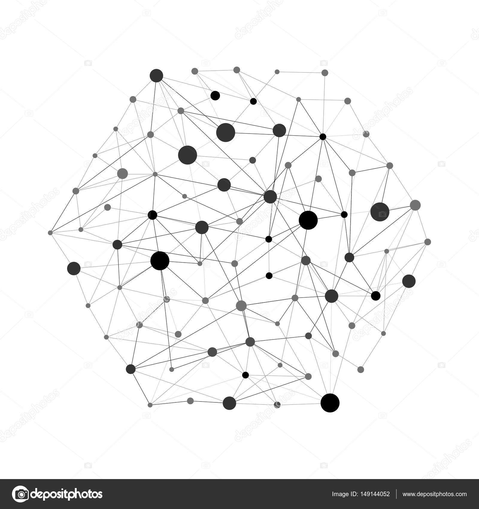 Puntos Y Lineas Geometricas Patron De Linea Fondo