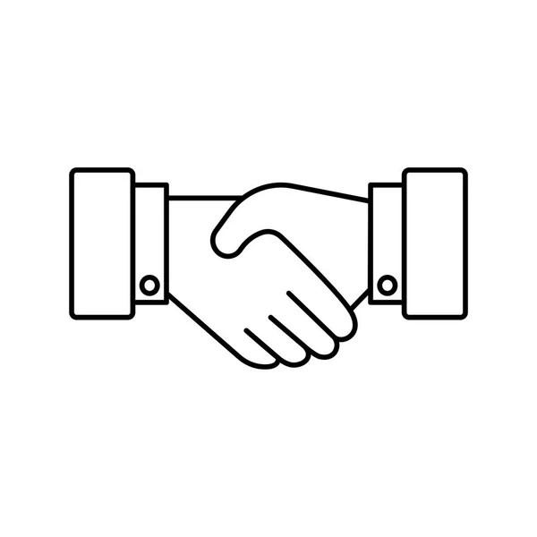 Handshake line icon — Stock Vector © Alliya2000 #111671466