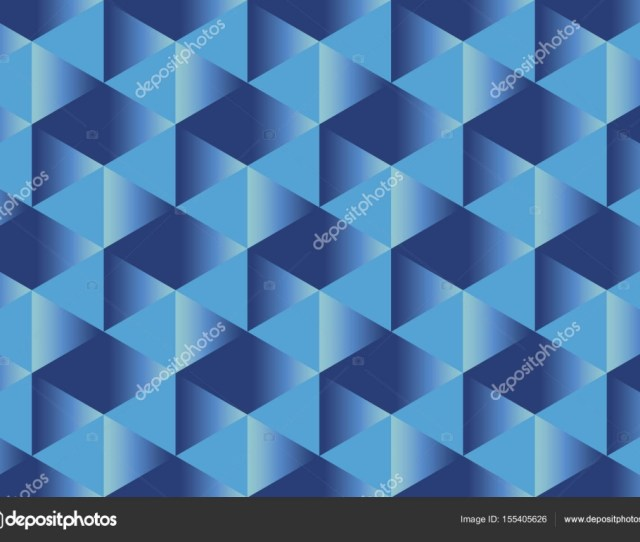 Deep Blue Paper Illusion Seamless Pattern With Rectangular Bright Sport Style Geometric Abstract Repeatable Motif Geometry Wallpaper Illustration