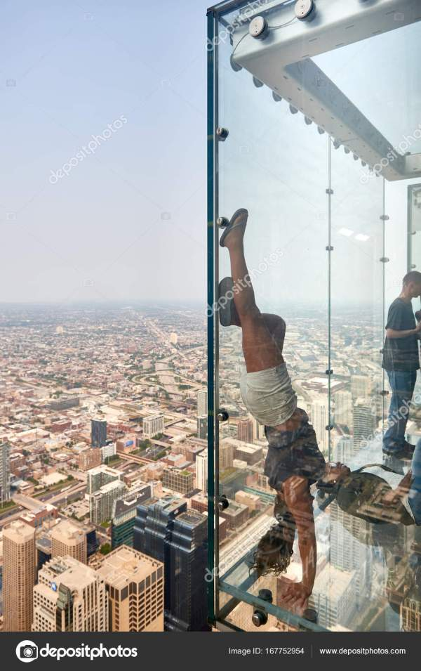 Skydeck Chicago Willis Tower Fotografia De Stock