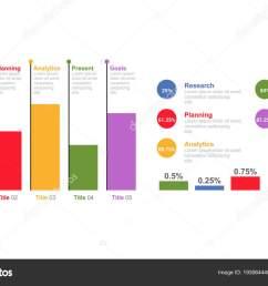 bar chart infographic design template five option percentage process business stock vector [ 1600 x 1060 Pixel ]