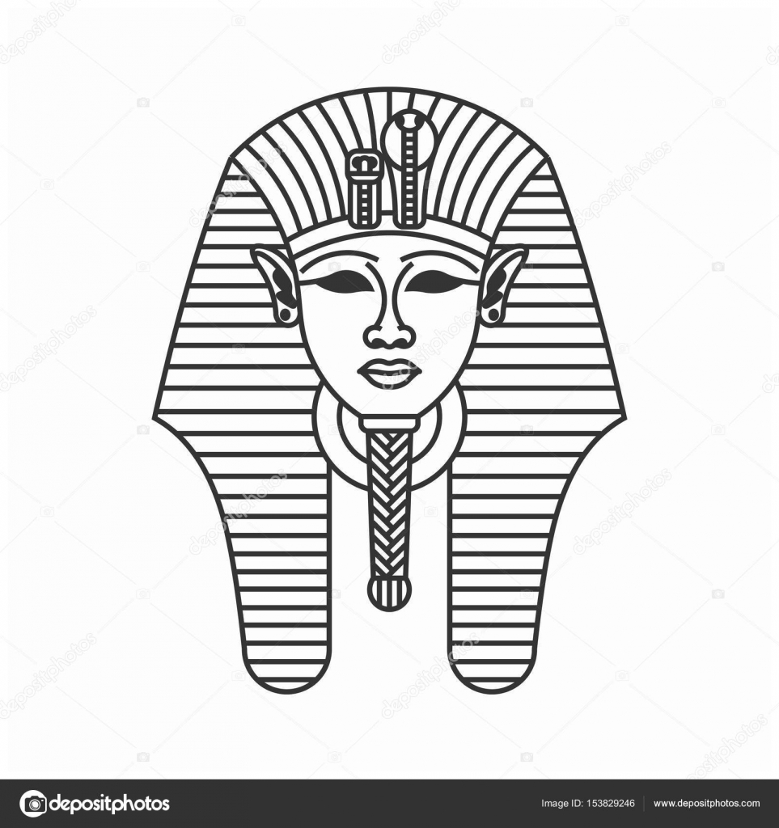 Tutankhamun burial mask icon — Stock Vector © smolyakov
