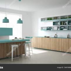 Turquoise Kitchen Decor Fisher Price Kitchens 木制和绿松石的细节 Mi 斯堪的纳维亚白色厨房 图库照片 C Archiviz 斯堪的纳维亚白色厨房用木和绿松石细节 简约的室内设计 照片作者archiviz
