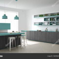 Turquoise Kitchen Decor Knives For Sale 木制和绿松石的细节 Mi 斯堪的纳维亚白色厨房 图库照片 C Archiviz 斯堪的纳维亚白色厨房用木和绿松石细节 简约的室内设计 照片作者archiviz