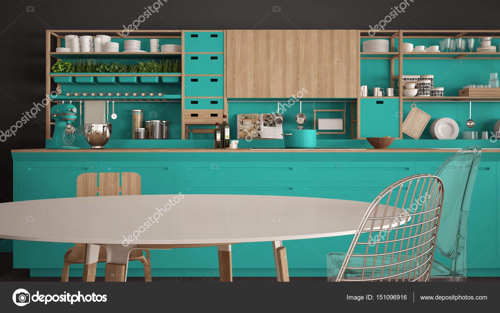 turquoise kitchen decor best hood 极简主义白色和绿松石木制厨房特写 scandina 图库照片 c archiviz