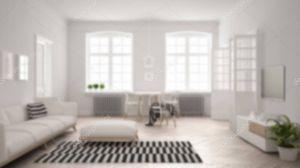 blur interior living bright minimalist