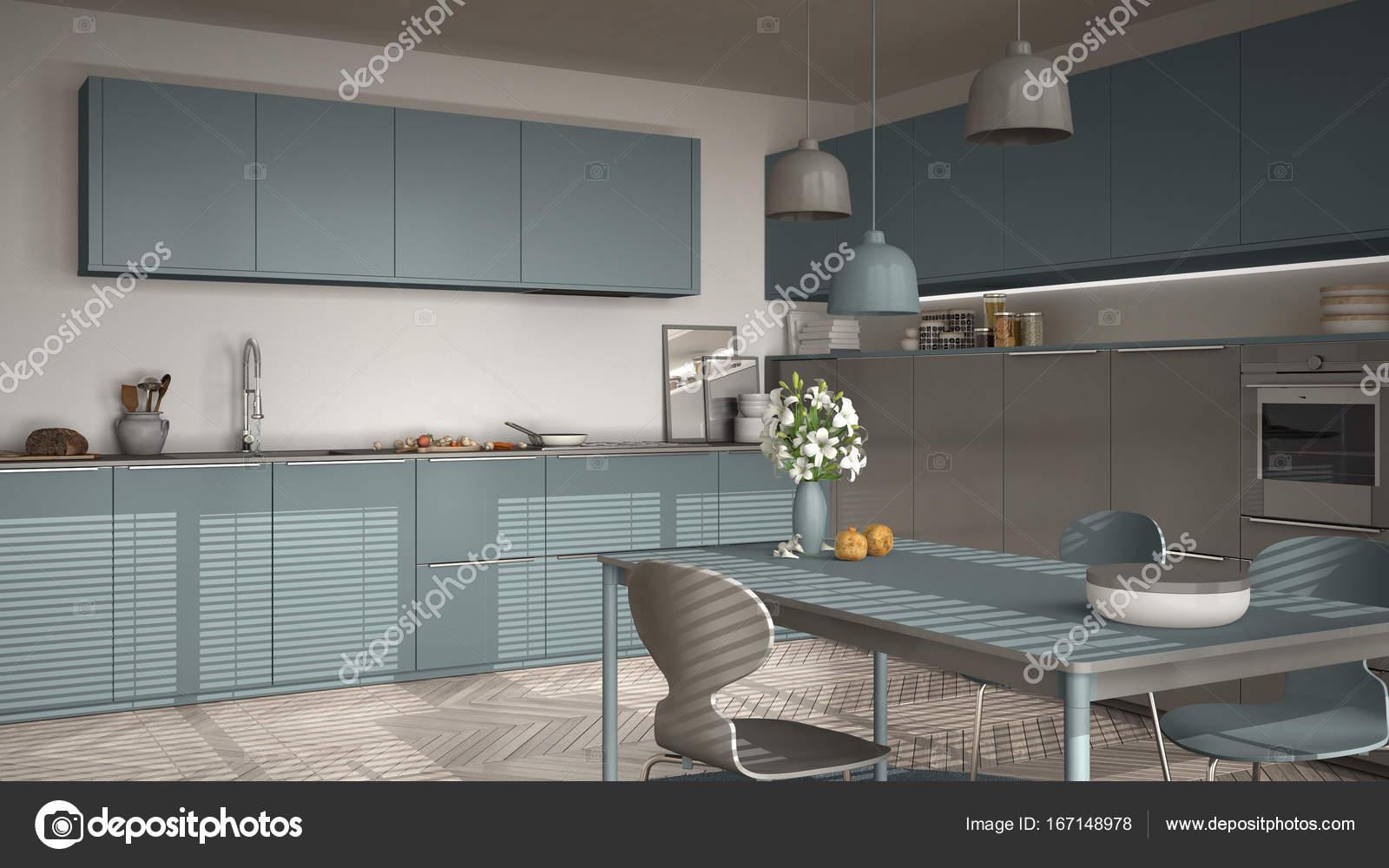large kitchen table track lighting for 现代厨房的桌子和椅子 大窗户和herringbon 图库照片 c archiviz 167148978