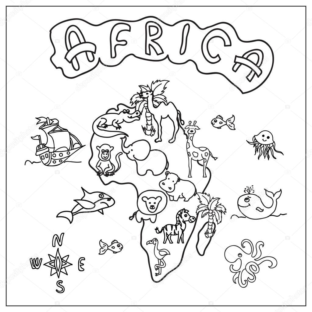 Afrikaans Coloring Pages