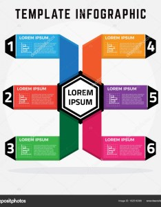 Modern infographic template that can be used for diagram graph chart web design workflow layout  vector by edwinp also rh depositphotos