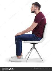 Man sitting on chair  Stock Photo  belchonock #147575313
