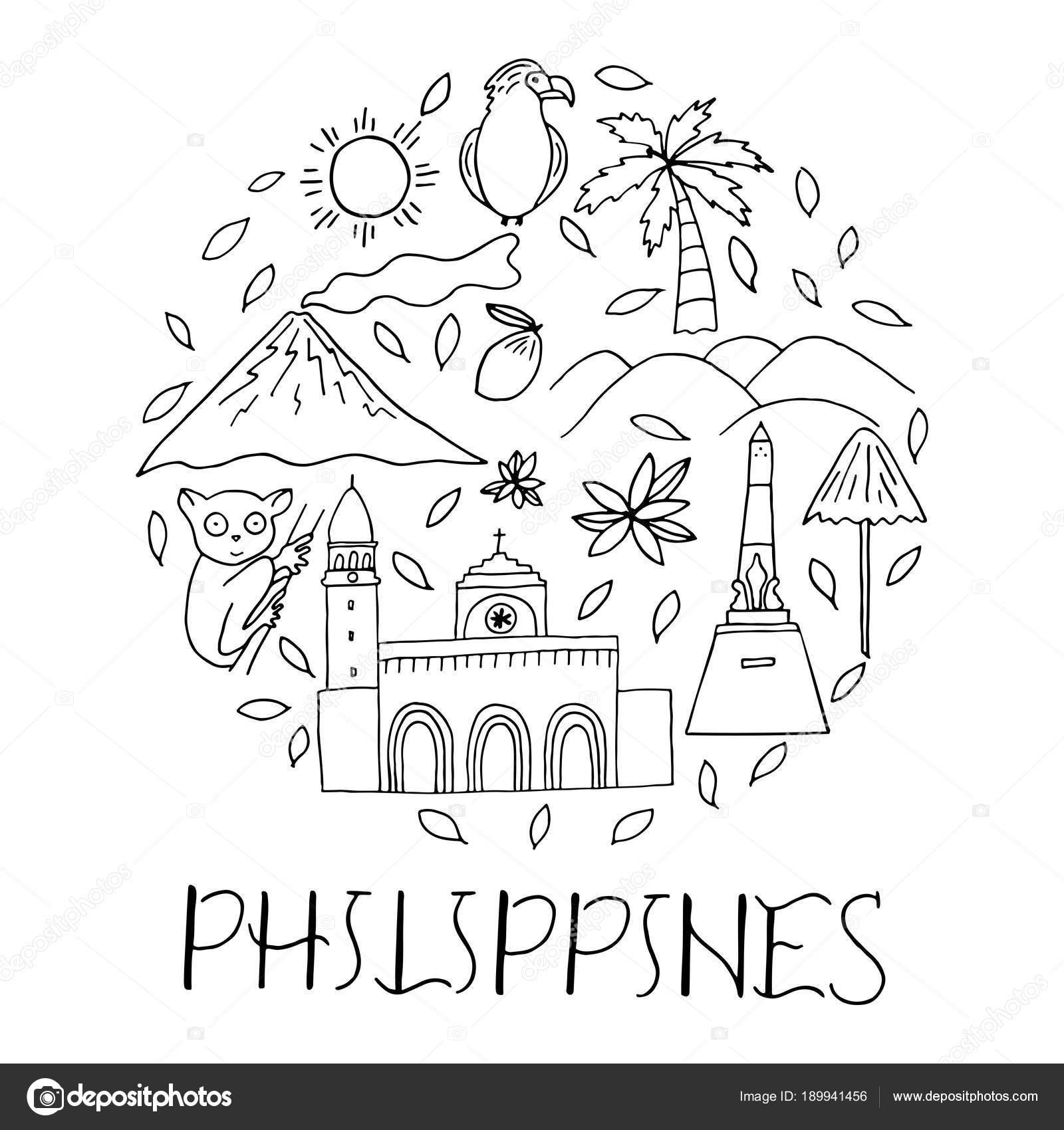 Símbolos nacionales de Filipinas en forma de círculo