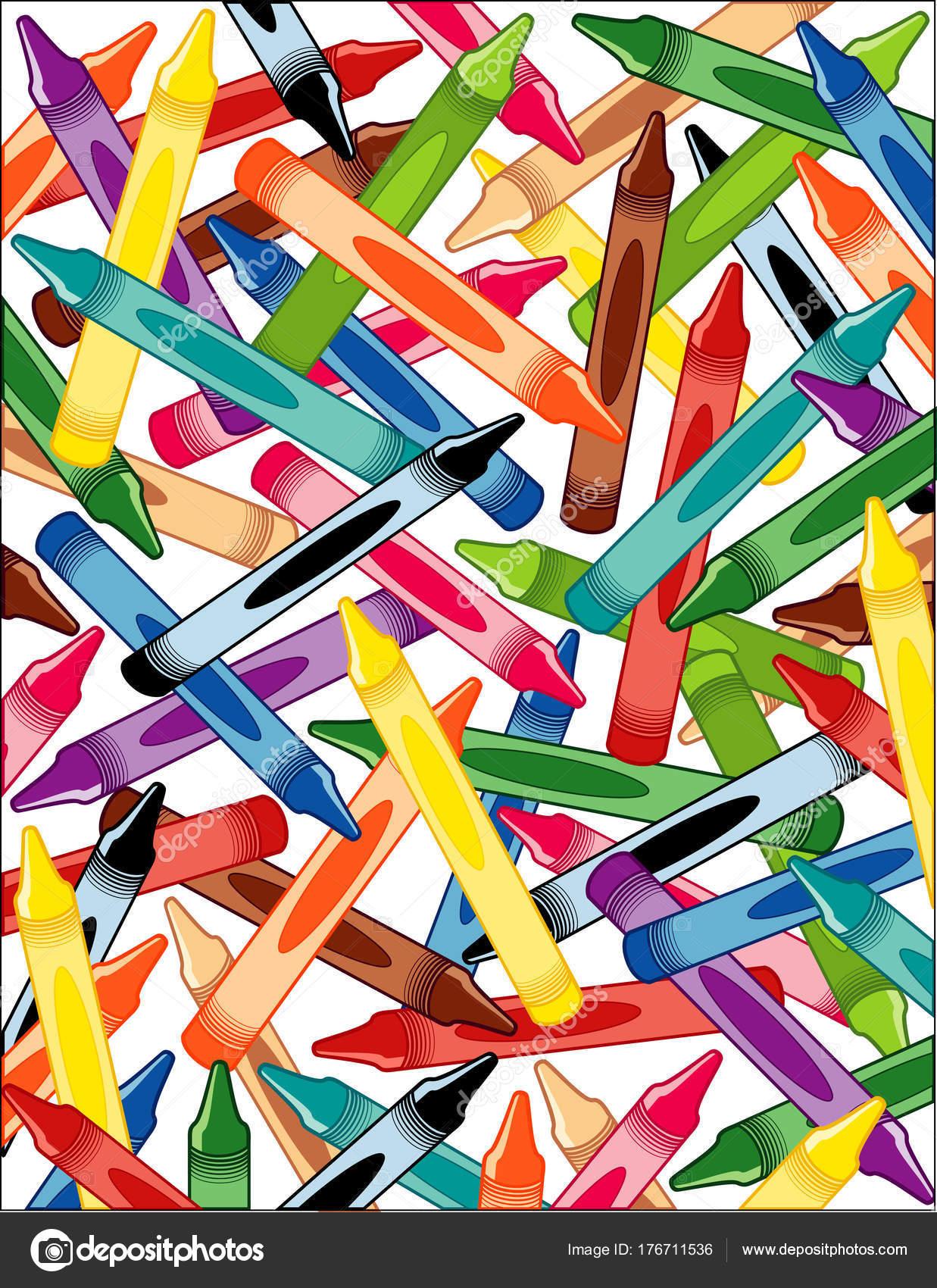 Crayons White Background Multi Color Crayons Preschool