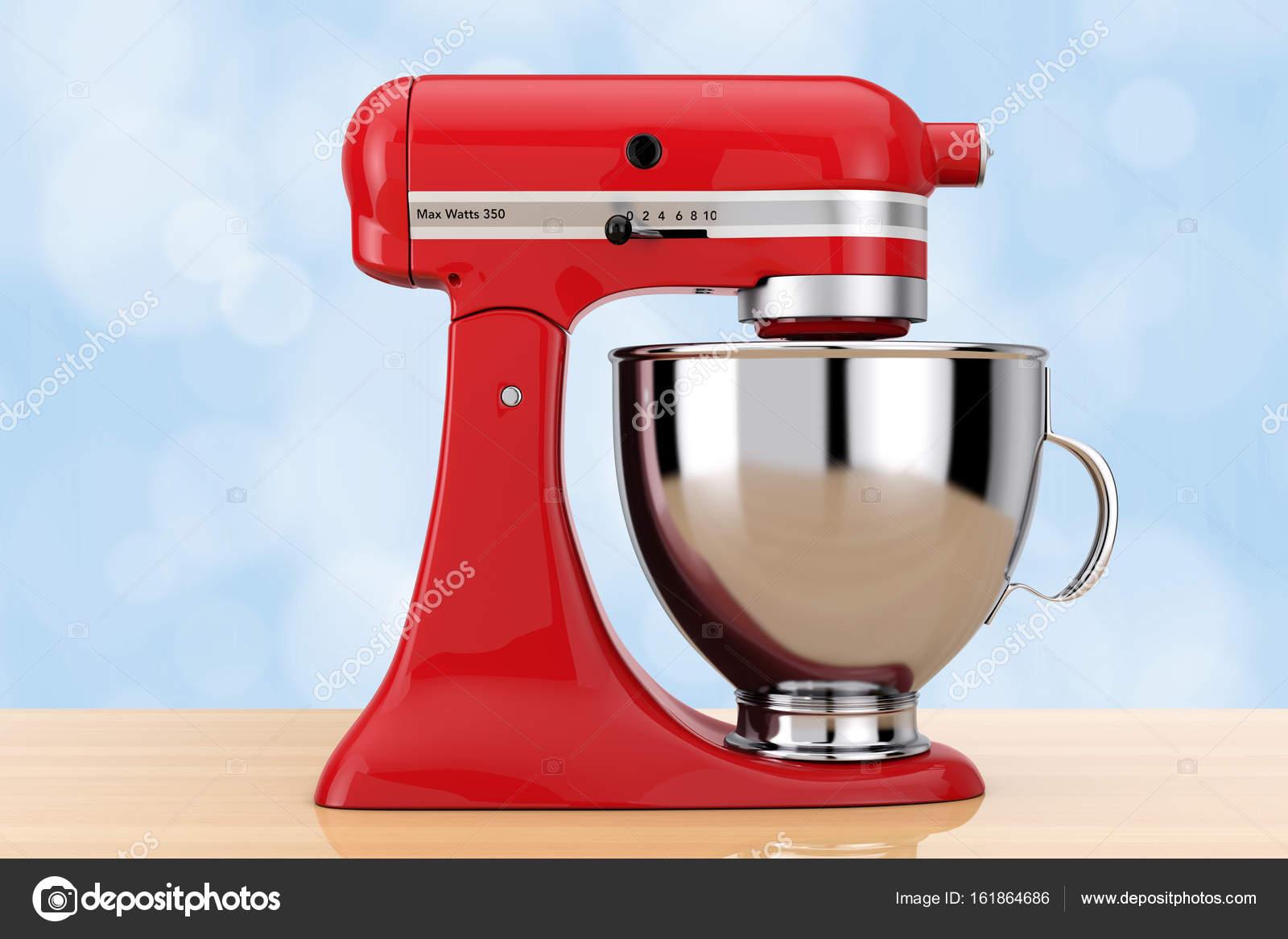 kitchen and mixer breakfast bar stools 红色厨房食品搅拌机 3d 渲染 图库照片 c doomu 161864686