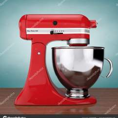 Kitchen And Mixer Used Mobile Kitchens For Sale 红色厨房食品搅拌机 3d 渲染 图库照片 C Doomu 161864688