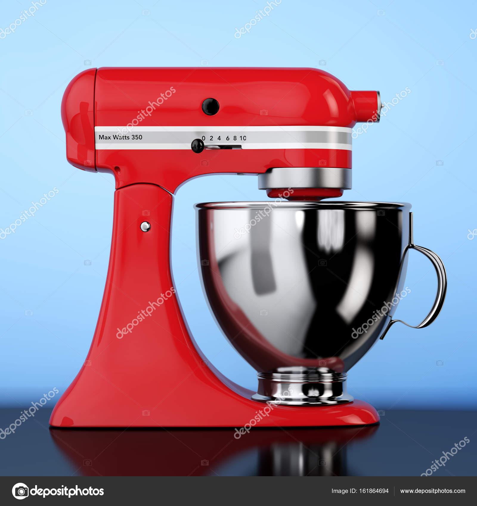 kitchen and mixer countertop storage 红色厨房食品搅拌机 3d 渲染 图库照片 c doomu 161864694