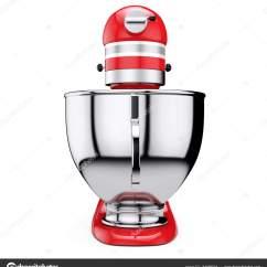 Kitchen And Mixer Repairs 红色厨房食品搅拌机 3d 渲染 图库照片 C Doomu 161866504