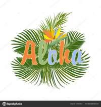 Aloha Hawaii. Aloha triko design  Stock Vektor  artlu ...