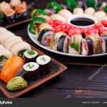 Restaurant Menu Japanese Food Art Appetizing Maki And Nigiri S Stock Photo C Wadym 194253914