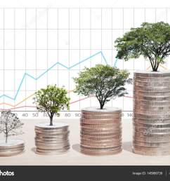 concept of money tree growing from coins business graph background saving money economy investment and saving concept photo by aioonrak gmail com [ 1600 x 1167 Pixel ]