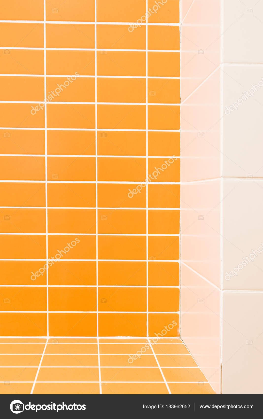 Piastrelle Bagno Arancione Arancione Colore Marrone Mosaico Di Vetro Per Piastrelle Della
