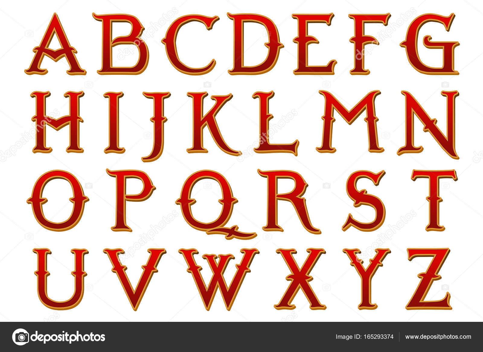 Narnia Fantasy Alphabet Collection Letters — Stock Photo
