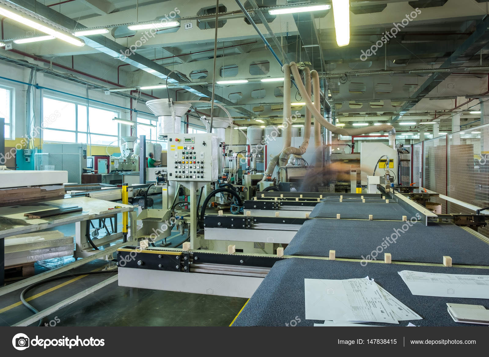 Factory De Muebles Furniture Factory Production Line Stock Editorial Photo