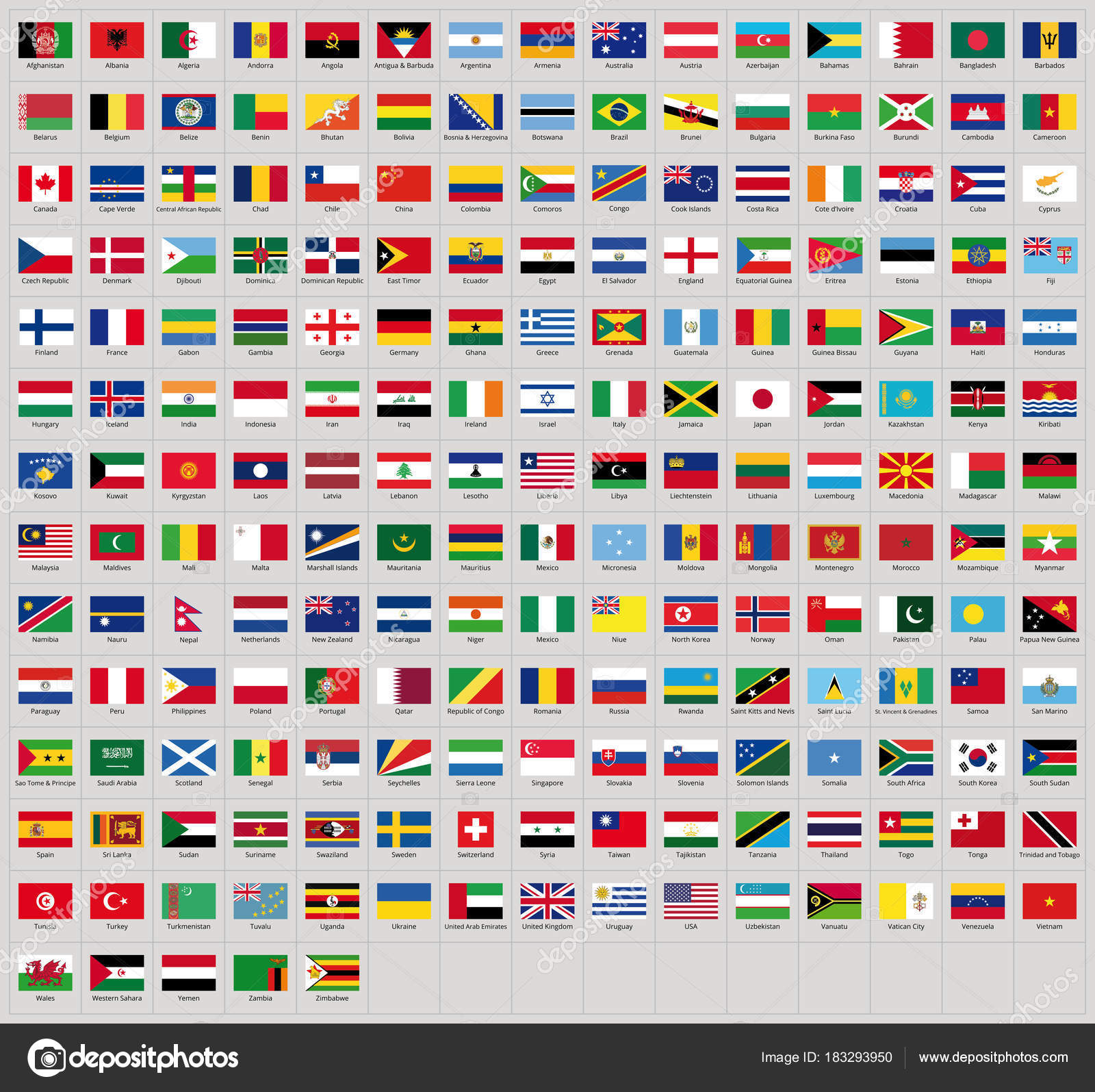 all national flags all