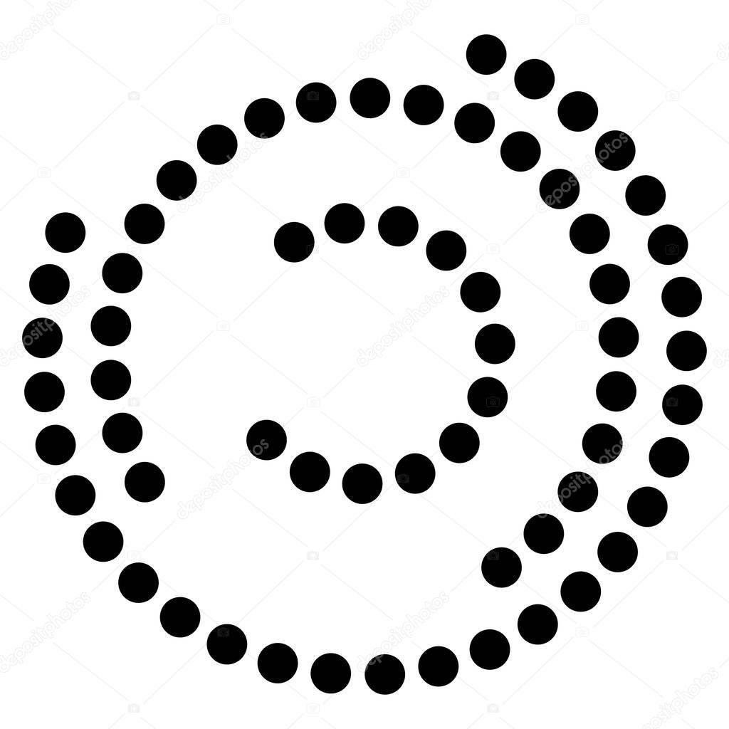 Spirala Element Z Koncentrycznymi Okr Gami