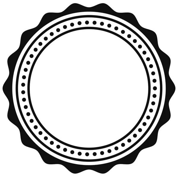 Contorno circular certificado — Vector de stock
