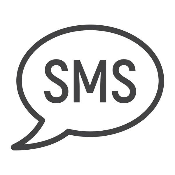 Icône de ligne mobile mail, signe de sms, message — Image