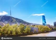 Tbilisi Georgia - 19 April 2017 Panorama View Of