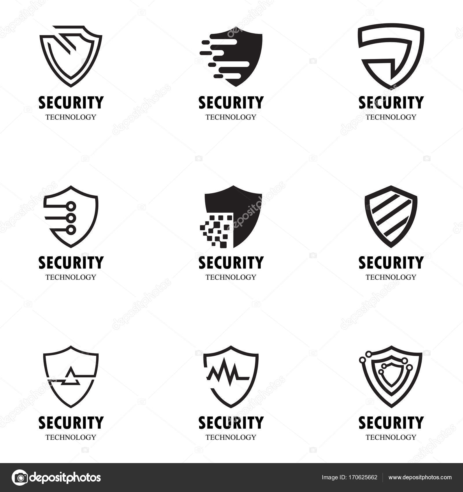 Shield Security Logo set — Stock Vector © zagoya123@gmail