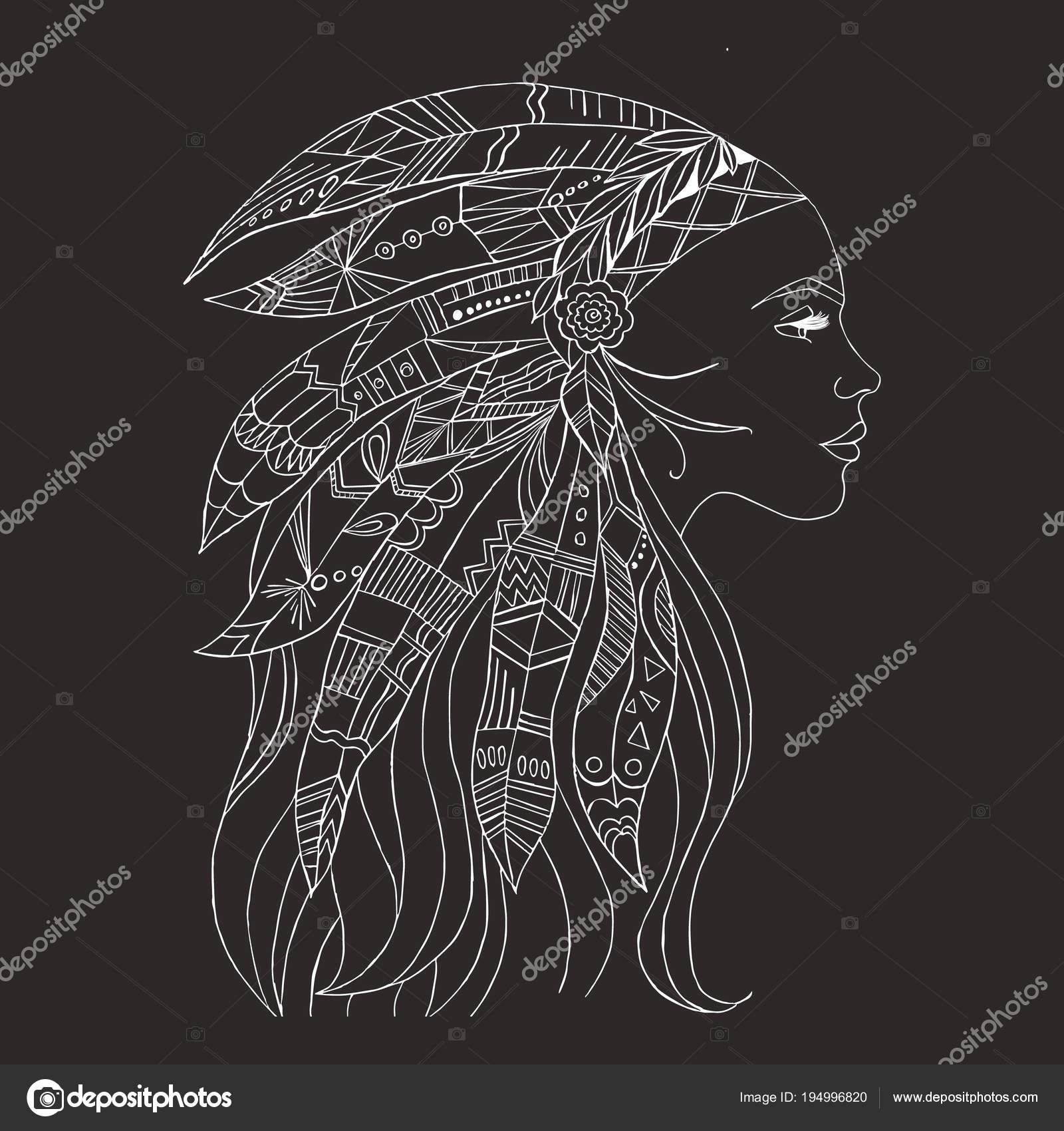 Mujer India Tribales Tatuaje Camiseta Diseño Arte Del Tatuaje Mujer