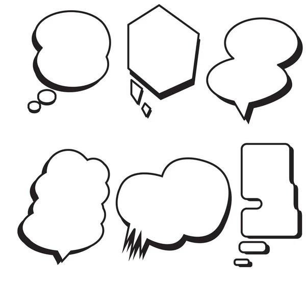 Blank template comic speech star bubble — Stock Vector