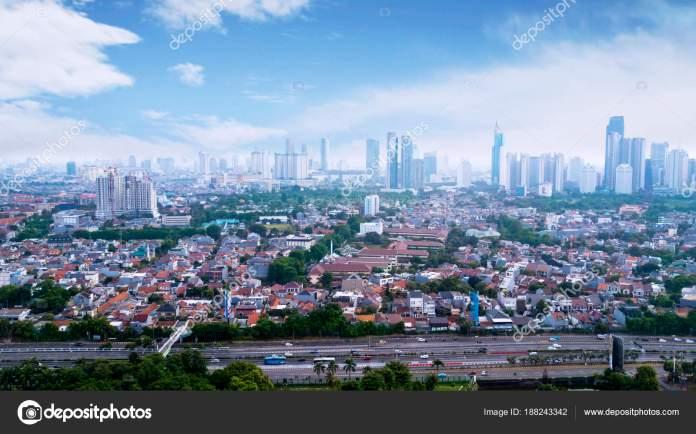 Panoramic Cityscape Of Indonesia Capital City Jakarta At Sunny Day Stock Editorial Photo C Realinemedia 188243342