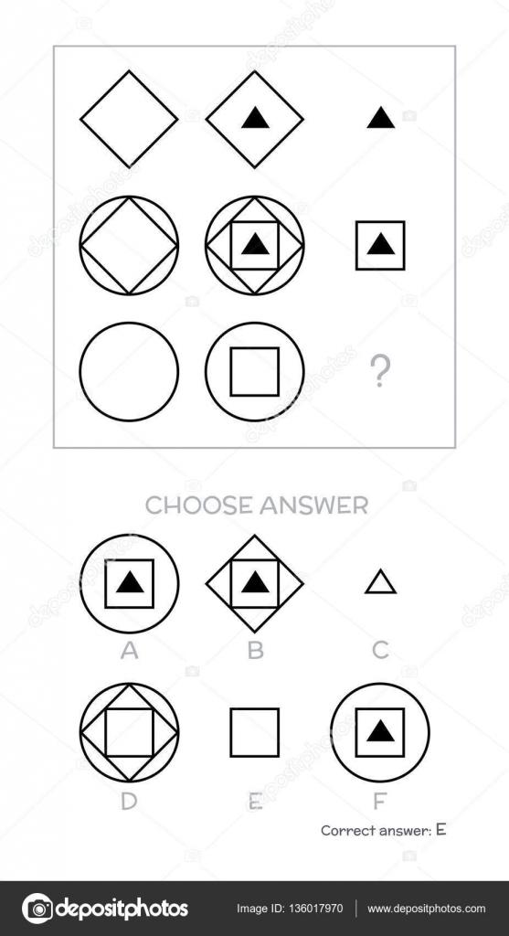 IQ-teszt. Választ — Stock Vektor © kharlamova_lv #136017970