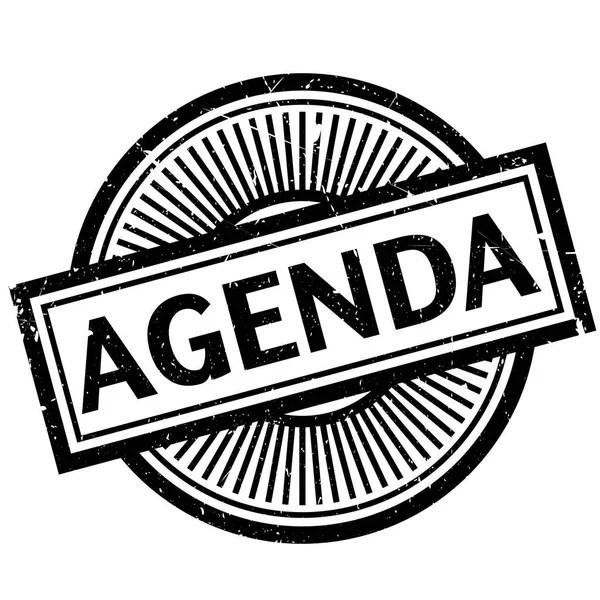 Agenda rubber stamp — Stock Vector © lkeskinen0 #136596214