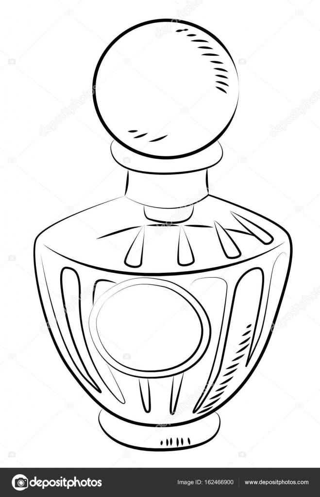 Cartoon image of perfume bottle — Stock Vector