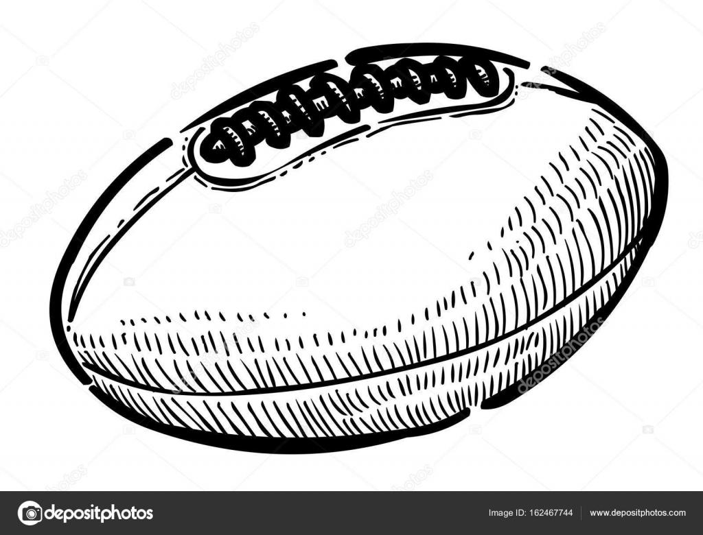 Image De Dessin Anime De Ballon De Rugby