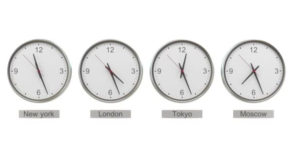 time zone clocks showing
