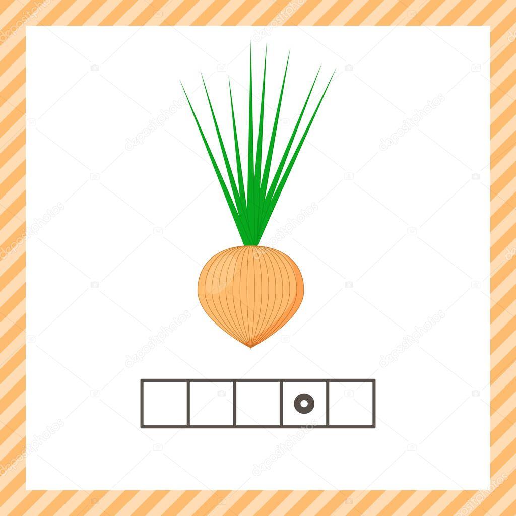 Vegetable Onion Educational Logic Worksheet For