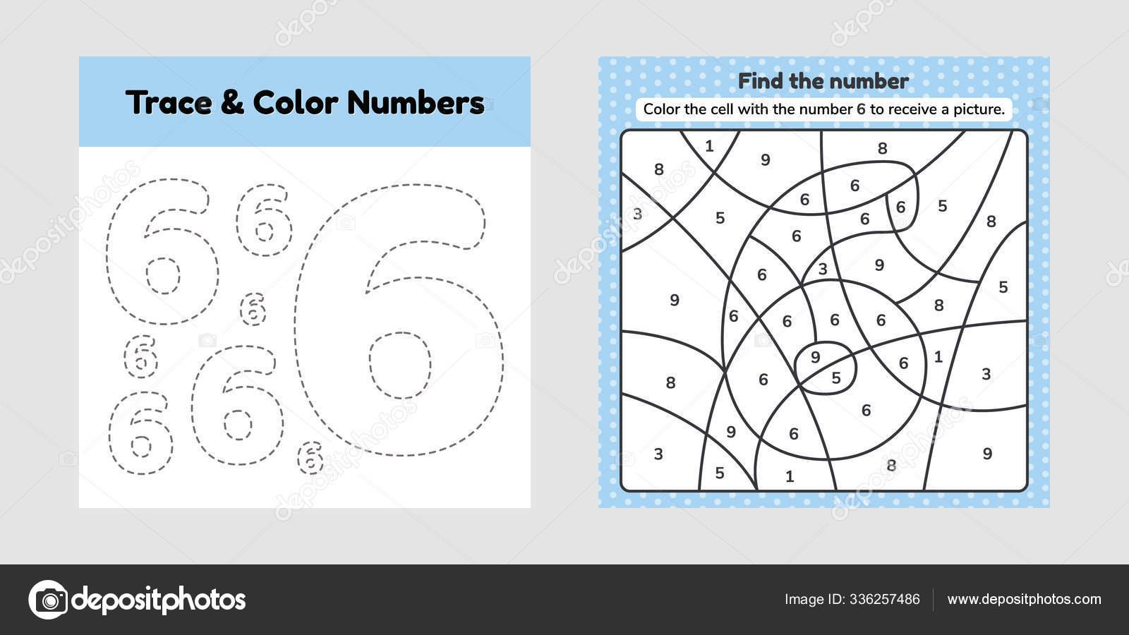 hight resolution of Coloring book number for kids. Worksheet for preschool