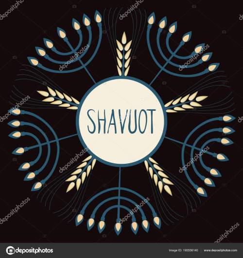 small resolution of template in a minimalist style to create labels stickers uncluttered layout of the poster shavuot vector illustration for jewish holiday frame of wheat