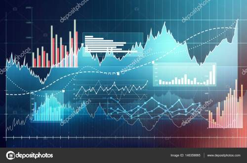 small resolution of abstract business chart with uptrend line graph bar chart and diagram in bull market on dark blue background photo by evorona