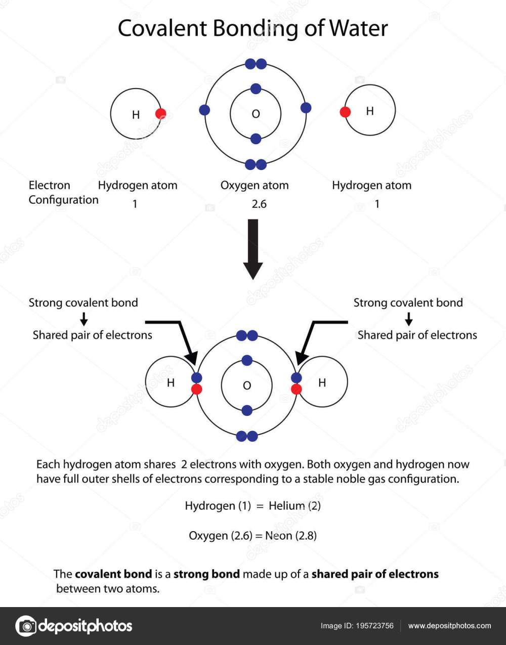 medium resolution of diagram to illustrate covalent bonding in water with a fully lab stock illustration
