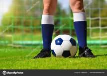 De Jogador Futebol Bola Stock Vencav