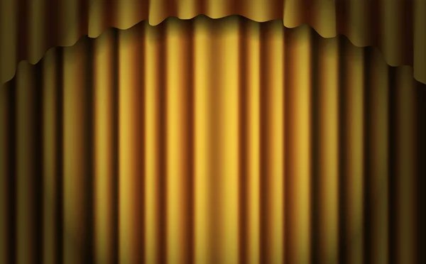 gold stage curtain realistic vector