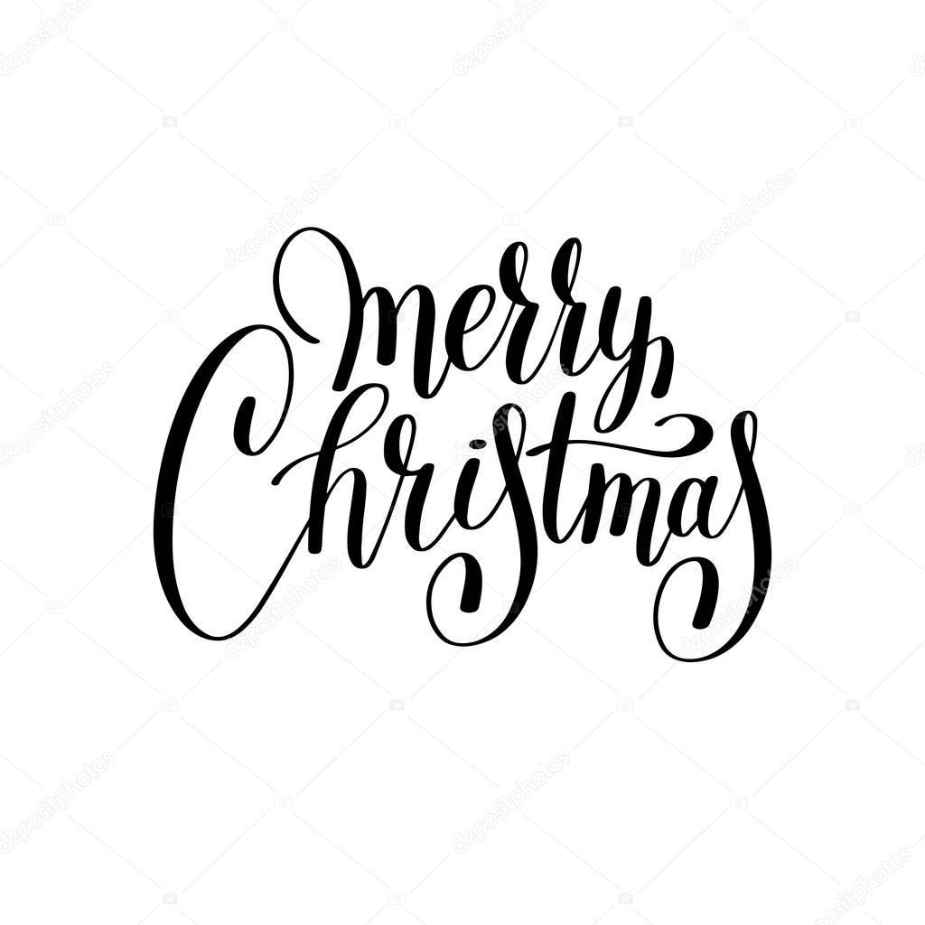 Frohe Weihnachten Und Schwarz Handschriftlich Inscriptio