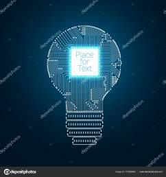 light bulb idea icon with circuit board inside stock vector [ 1600 x 1700 Pixel ]